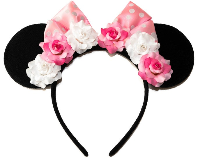 Pink White Mouse Ears