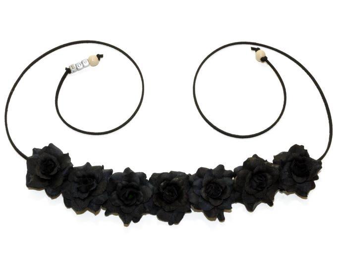 Black Rose Flower Crown