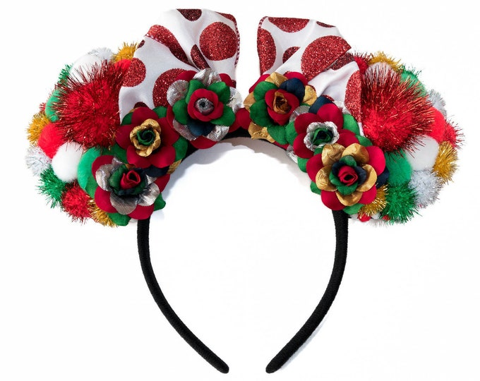 Christmas Pom Pom Mouse Ears