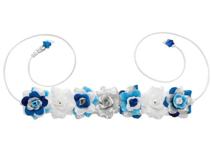 Blue Droid Flower Crown