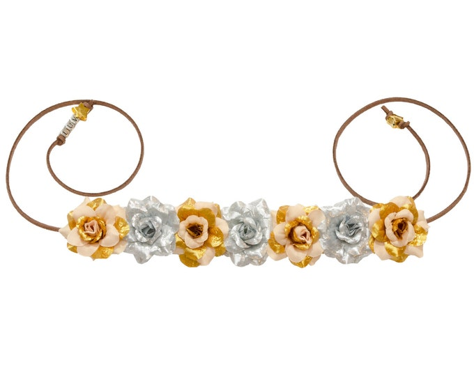 Gold Droid Flower Crown