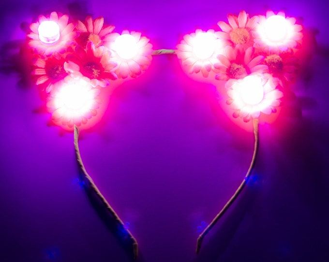 Pink LED Cat Ears