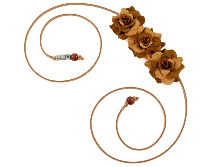 Autumn Brown Rose Side Flower Crown