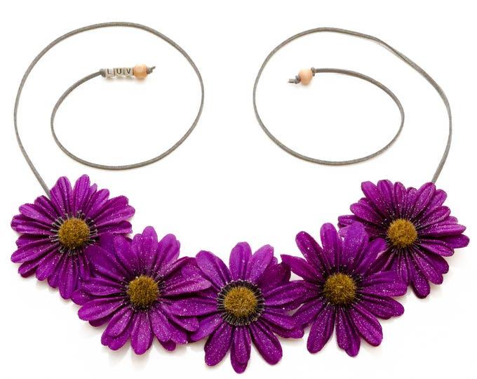 Autumn Purple Daisy Flower Crown