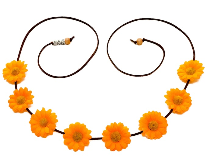 Orange Daisy Flower Crown