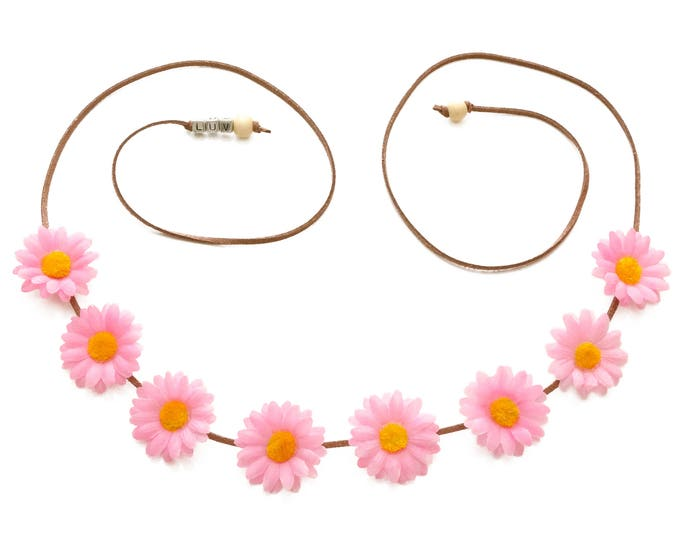 Light Pink Daisy Flower Crown