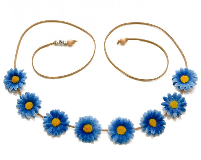 Blue Daisy Flower Crown
