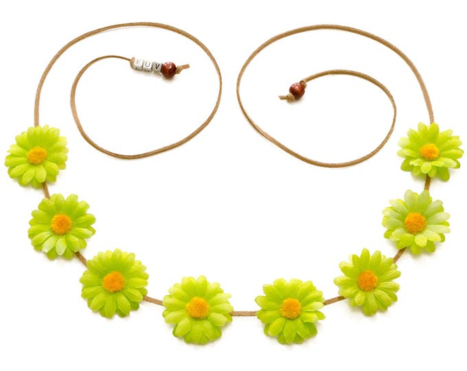 Green Daisy Flower Crown