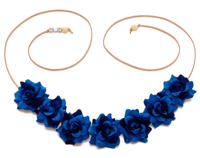 Blue Rose Flower Crown