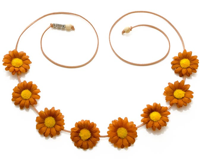 Brown Daisy Flower Crown