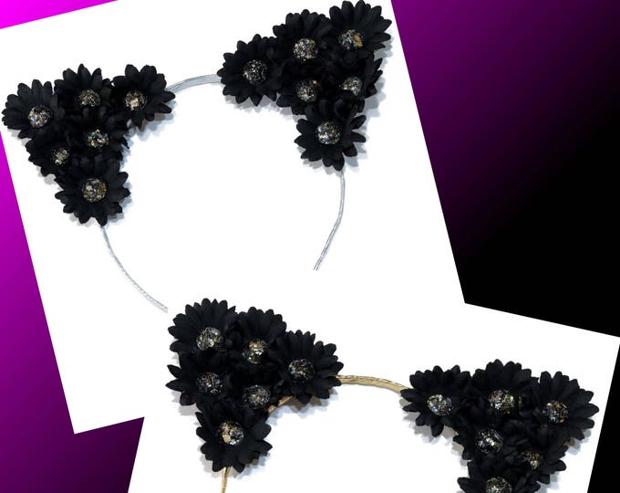 Black Jewel Cat Ears