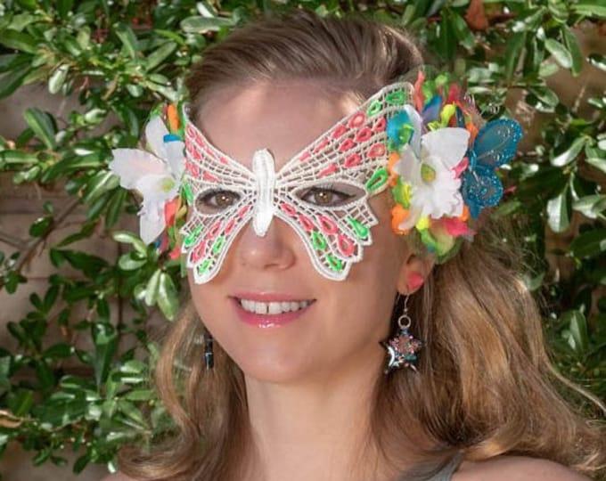 Neon Butterfly Mask