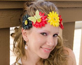 Rasta Daisy Flower Crown 87685190283