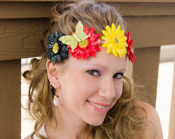 Rasta Daisy Flower Crown