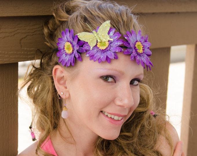 Purple Daisy Flower Crown