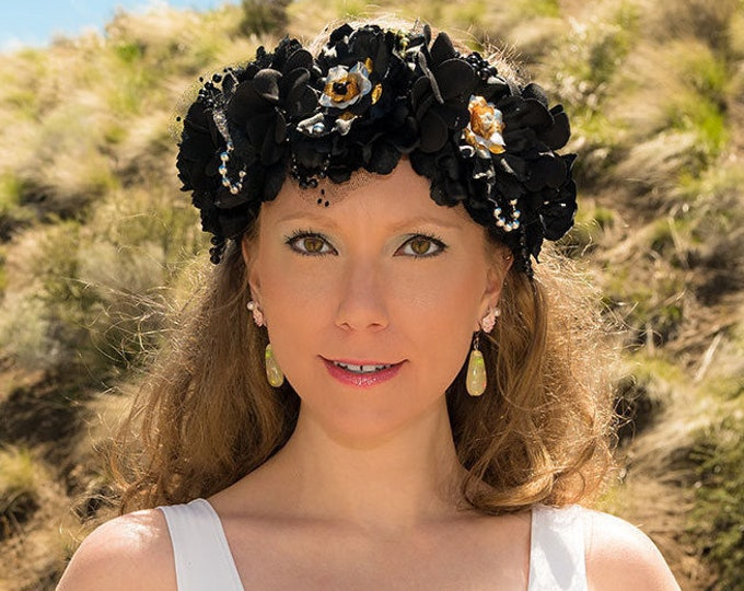 Black Mermaid Flower Crown