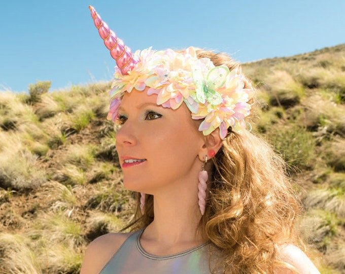 Pastel Rainbow Unicorn Flower Crown