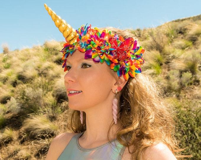 Rainbow Unicorn Flower Crown