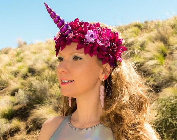 Purple Unicorn Flower Crown