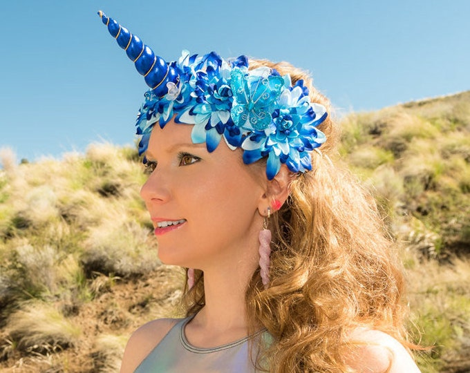 Blue Unicorn Flower Crown