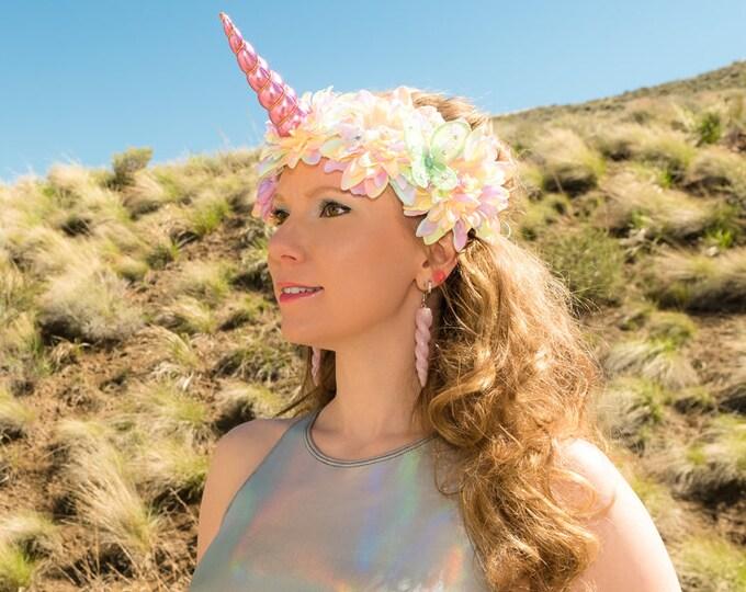Pastel Rainbow Unicorn Flower Crown