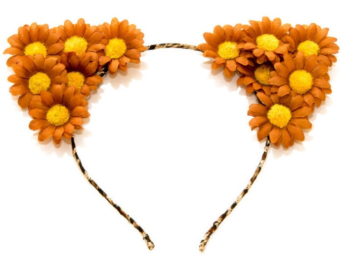 Autumn Brown Cat Ear Headband