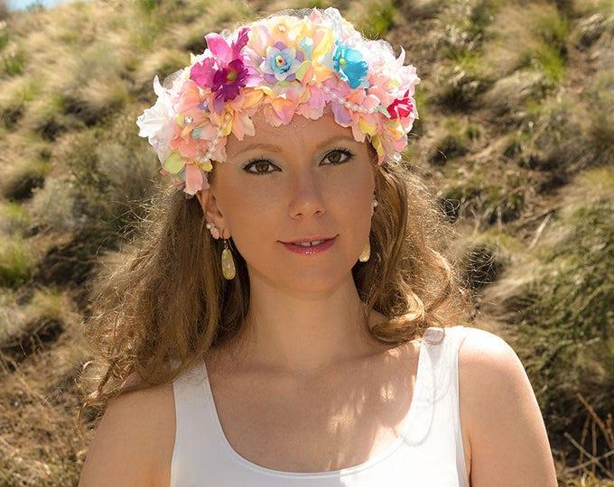 Pastel Mermaid Flower Crown