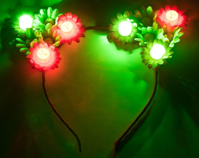 Christmas LED Cat Ear Headband