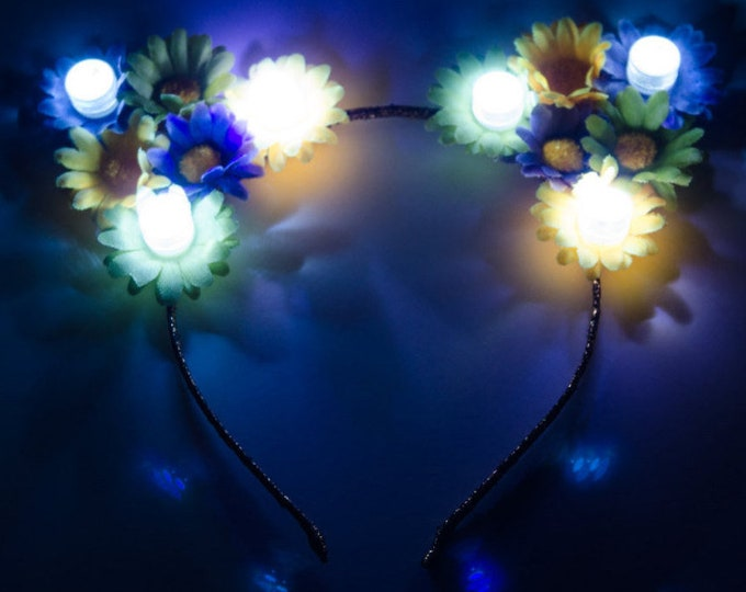 Mardi Gras LED Cat Ears