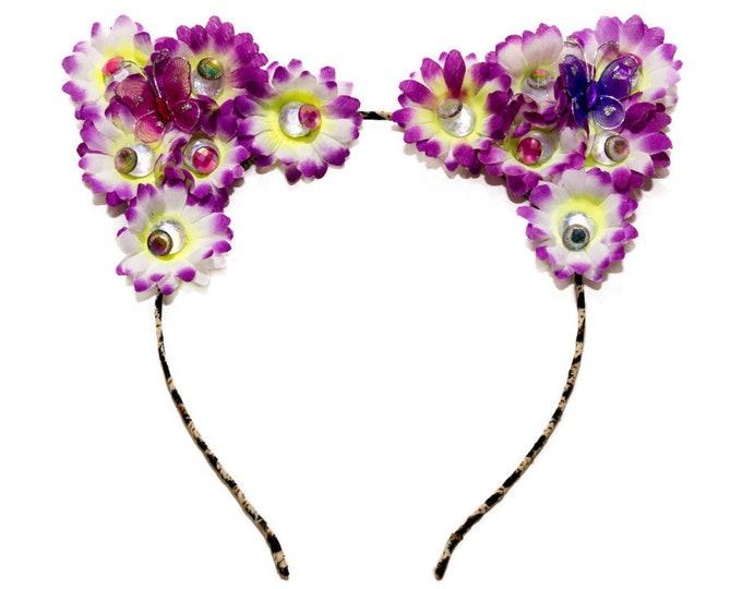 Tropical Cat Ear Headband