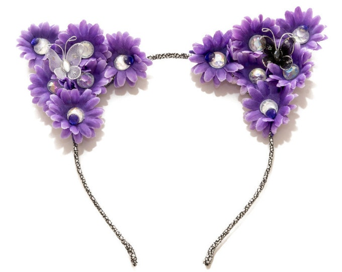 Purple Cat Ear Headband