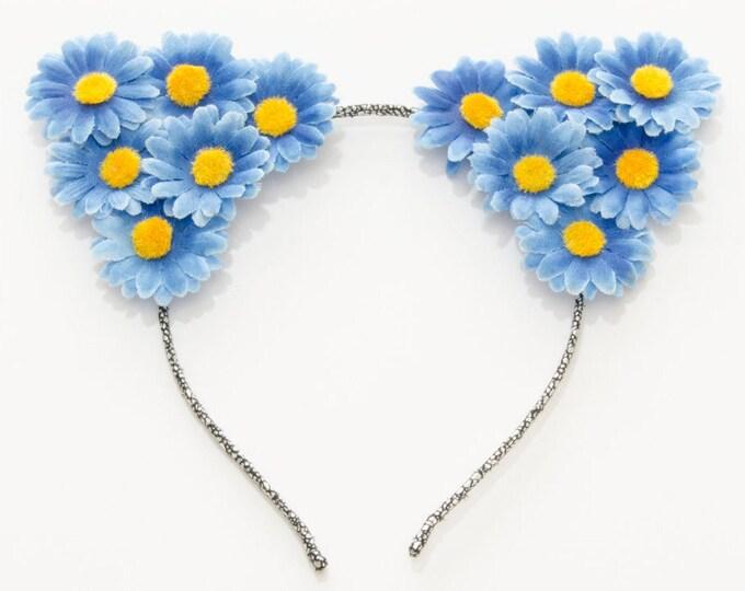 Blue Cat Ear Headband