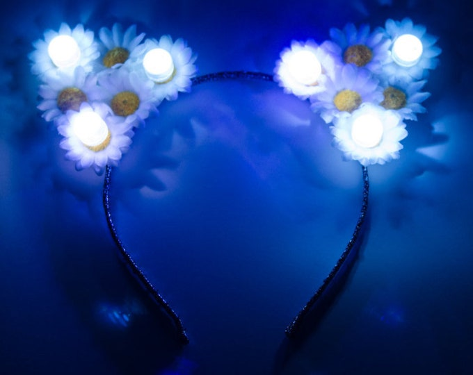 White LED Cat Ear Headband