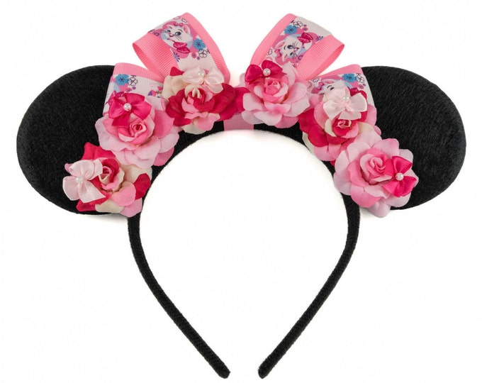 Marie Mouse Ears Headband
