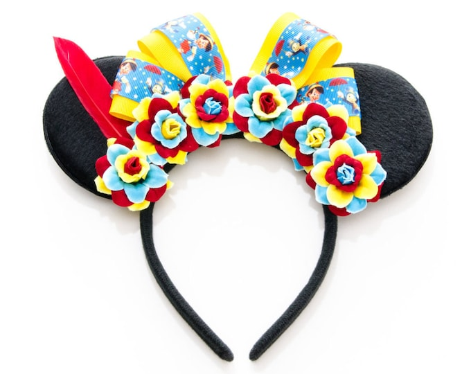 Wooden Puppet Mouse Ears Headband