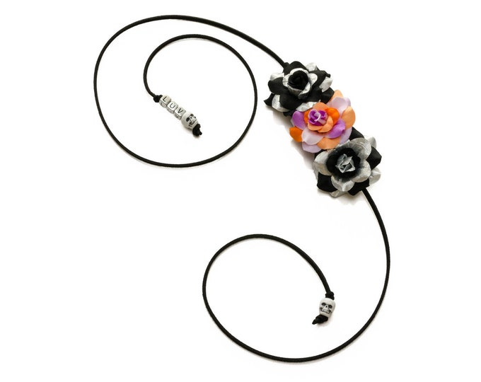 Halloween Rose Side Flower Crown