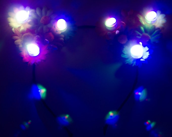 Rainbow LED Cat Ears