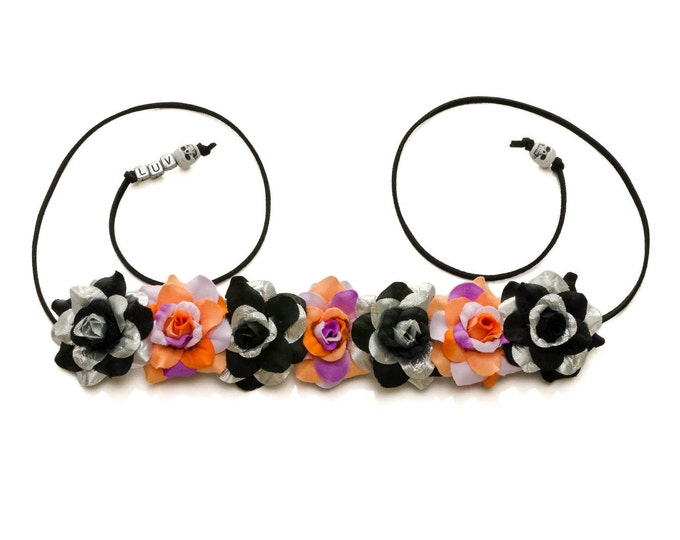 Halloween Rose Flower Crown