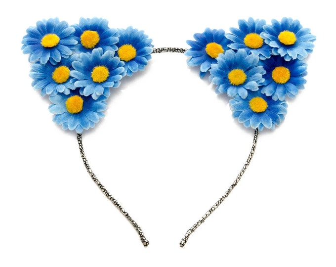 Blue Cat Ear Headband