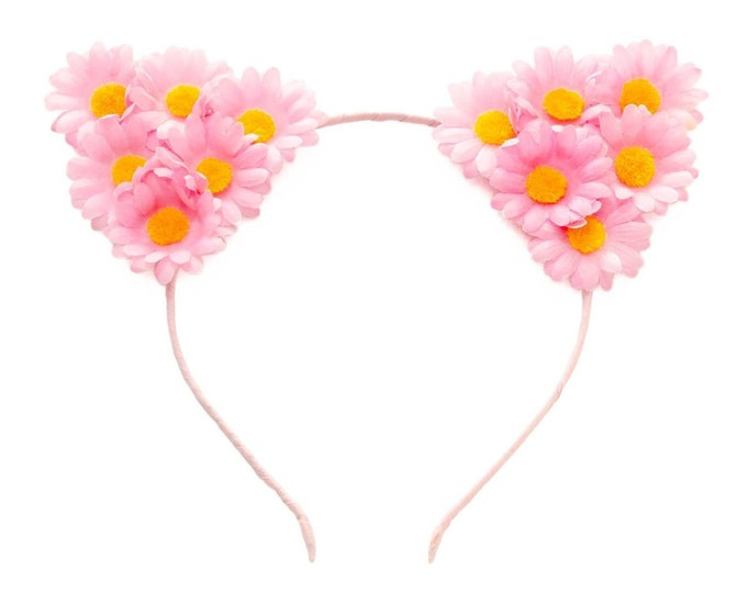 Pink Cat Ear Headband