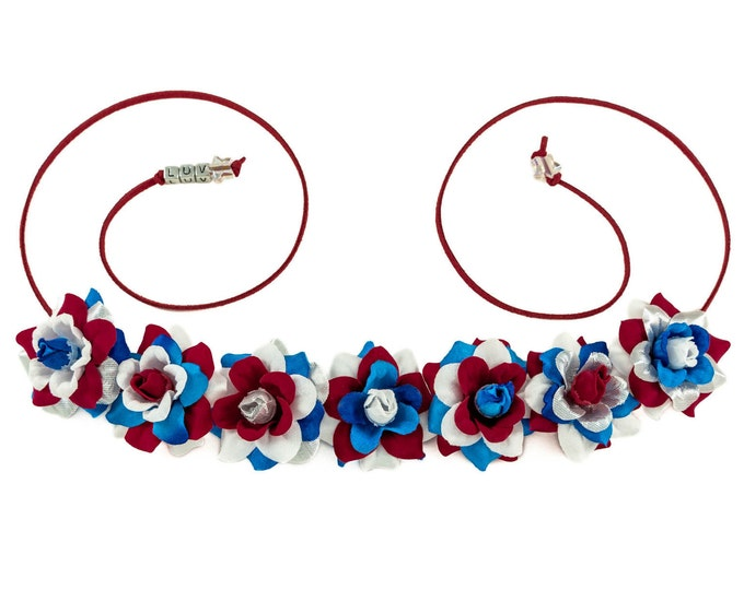 Patriotic Rose Flower Crown