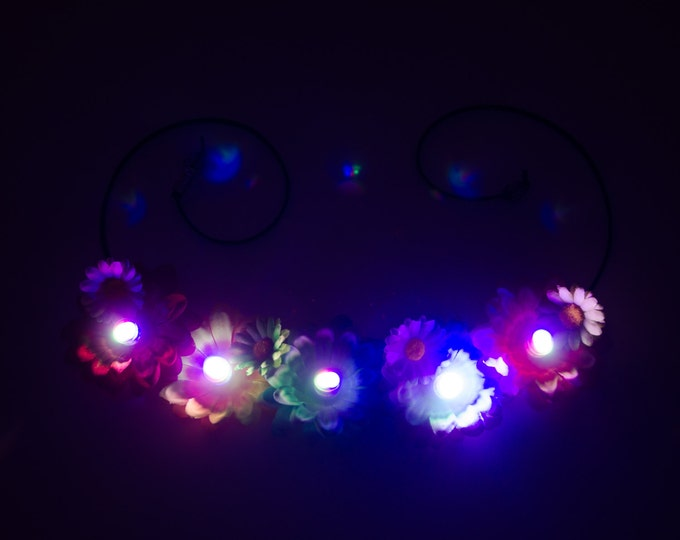 Customizable Daisy LED Flower Crown