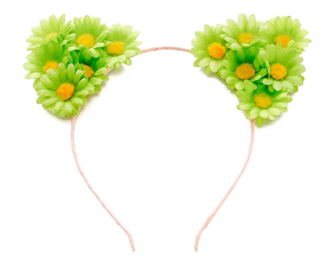 Green Cat Ear Headband