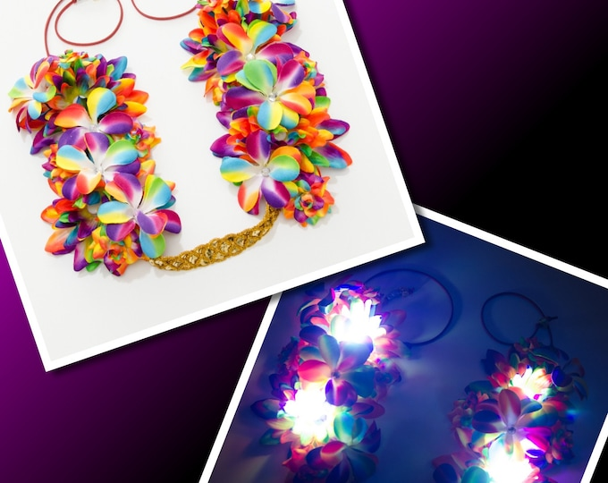 Rainbow LED Flower Crown