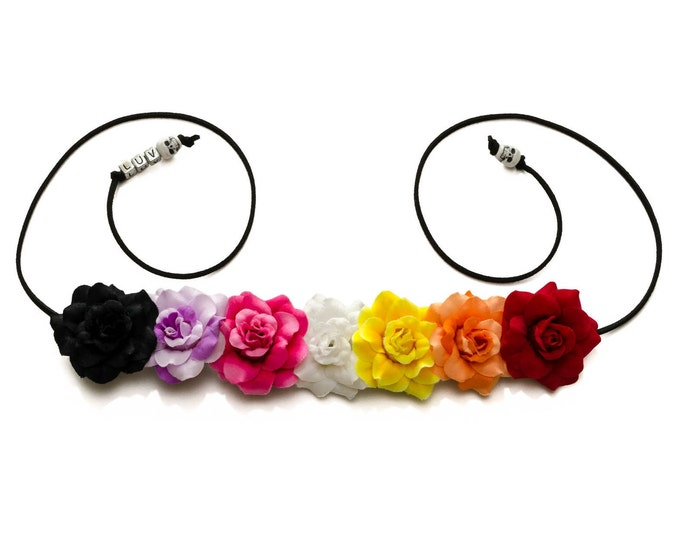 Day of the Dead Rose Flower Crown
