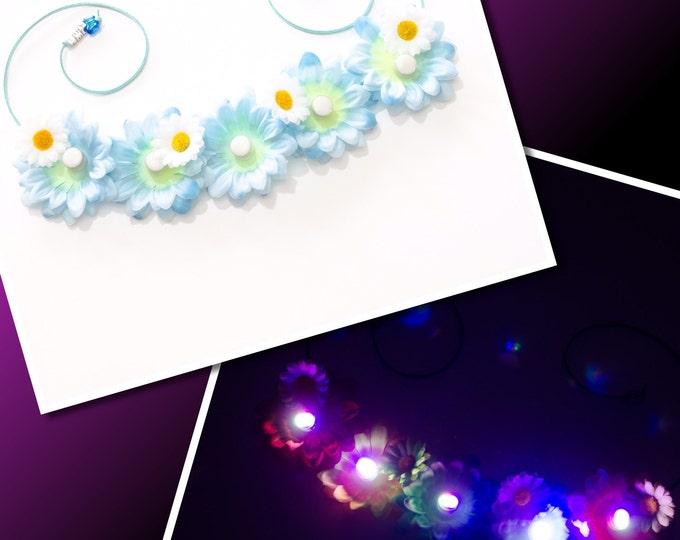 Blue Daisy LED Flower Crown
