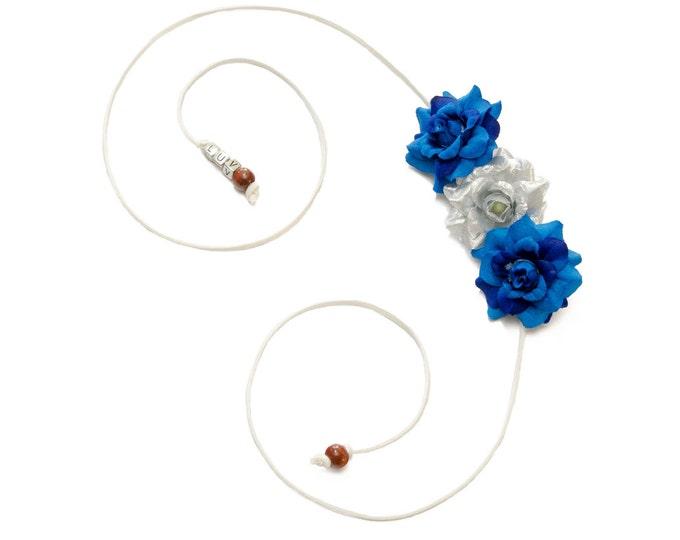 Hanukkah Rose Side Flower Crown