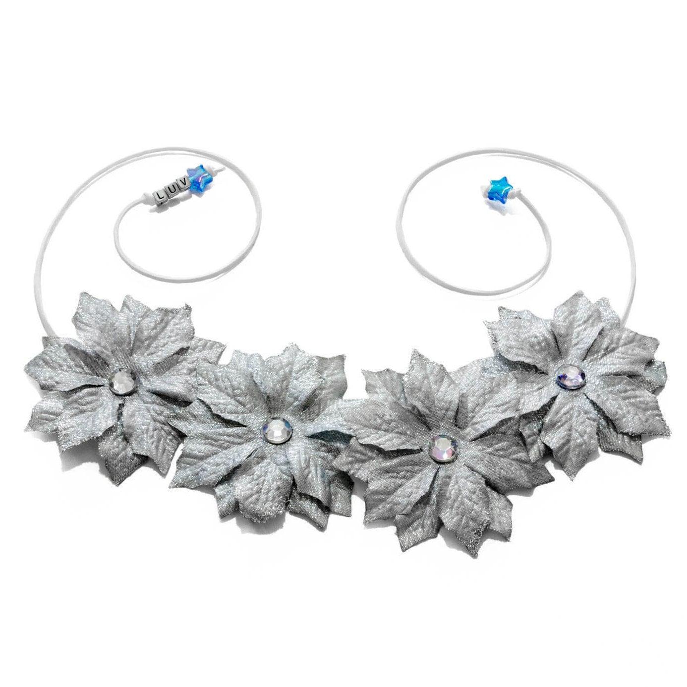 Silver poinsettia flower crown izmirmasajfo
