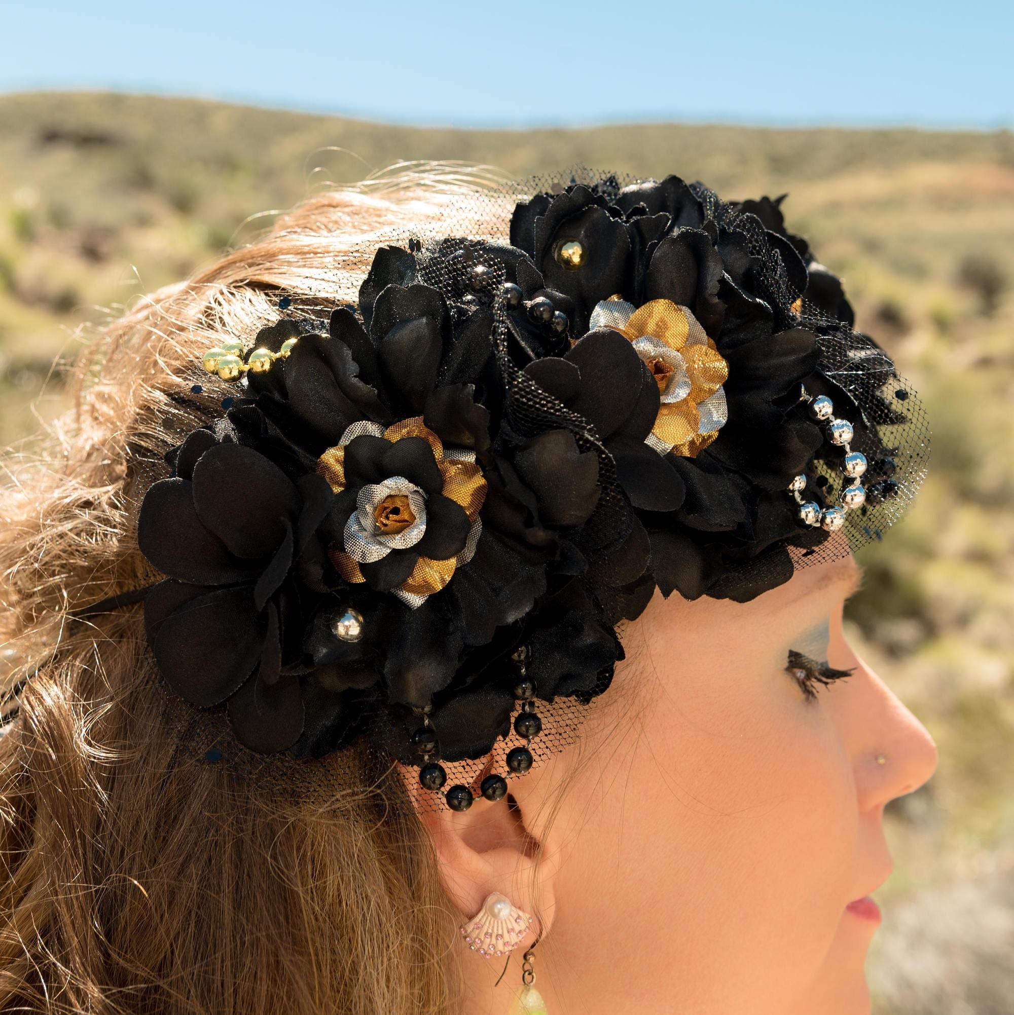 Black mermaid flower crown izmirmasajfo