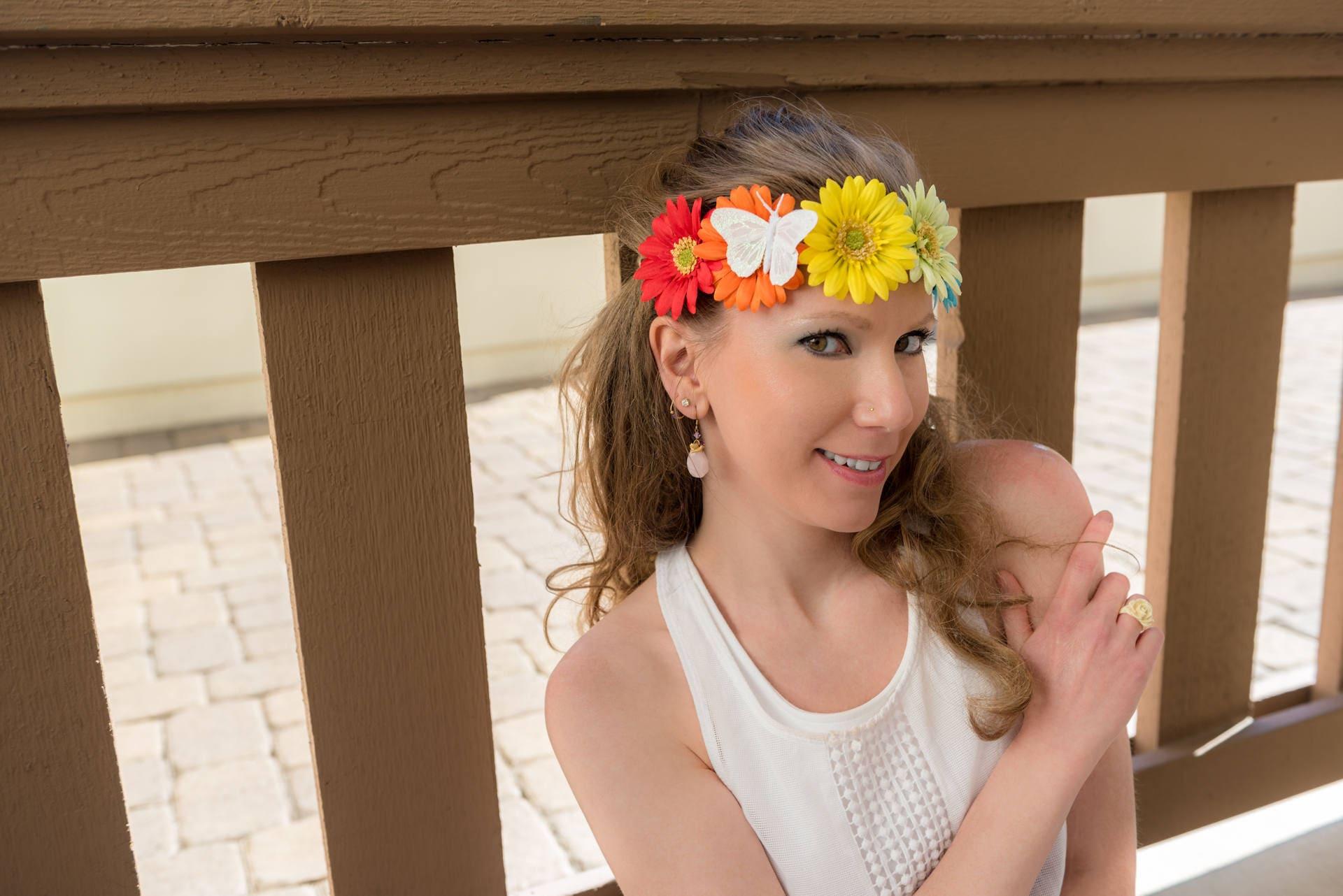 Rainbow daisy flower crown izmirmasajfo